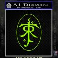 J. R. R. Tolkien Monogram Jrr Self Designed D1 Decal Sticker Lime Green Vinyl 120x120