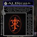 J. R. R. Tolkien Monogram Jrr Self Designed D1 Decal Sticker Orange Emblem 120x120