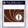 James Bond 007 Decal Sticker Barrel RT BROWN Vinyl 120x120
