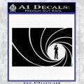 James Bond 007 Decal Sticker Barrel RT Black Vinyl 120x120