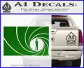 James Bond 007 Decal Sticker Barrel RT Green Vinyl Logo 120x97
