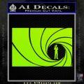 James Bond 007 Decal Sticker Barrel RT Lime Green Vinyl 120x120