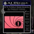 James Bond 007 Decal Sticker Barrel RT Pink Emblem 120x120