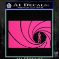 James Bond 007 Decal Sticker Barrel RT Pink Hot Vinyl 120x120