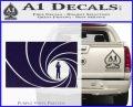 James Bond 007 Decal Sticker Barrel RT PurpleEmblem Logo 120x97