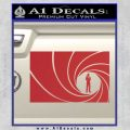 James Bond 007 Decal Sticker Barrel RT Red 120x120