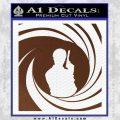 James Bond 007 Decal Sticker Barrel SQ 2 BROWN Vinyl 120x120