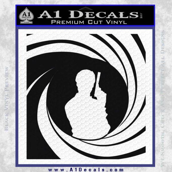 James Bond 007 Decal Sticker Barrel SQ 2 Black Vinyl