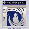 James Bond 007 Decal Sticker Barrel SQ 2 Blue Vinyl 120x120