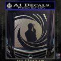 James Bond 007 Decal Sticker Barrel SQ 2 Carbon FIber Chrome Vinyl 120x120