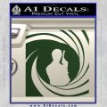 James Bond 007 Decal Sticker Barrel SQ 2 Dark Green Vinyl 120x120