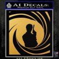 James Bond 007 Decal Sticker Barrel SQ 2 Gold Vinyl 120x120