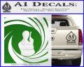 James Bond 007 Decal Sticker Barrel SQ 2 Green Vinyl Logo 120x97