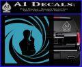 James Bond 007 Decal Sticker Barrel SQ 2 Light Blue Vinyl 120x97
