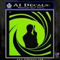 James Bond 007 Decal Sticker Barrel SQ 2 Lime Green Vinyl 120x120