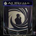 James Bond 007 Decal Sticker Barrel SQ 2 Metallic Silver Emblem 120x120