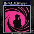 James Bond 007 Decal Sticker Barrel SQ 2 Pink Hot Vinyl 120x120