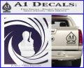 James Bond 007 Decal Sticker Barrel SQ 2 PurpleEmblem Logo 120x97