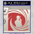 James Bond 007 Decal Sticker Barrel SQ 2 Red 120x120
