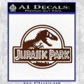 Jurassic Park Title Decal Sticker BROWN Vinyl 120x120