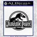 Jurassic Park Title Decal Sticker Black Vinyl 120x120