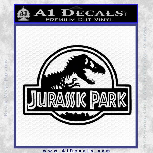 Jurassic Park Title Decal Sticker Black Vinyl