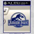 Jurassic Park Title Decal Sticker Blue Vinyl 120x120