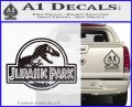 Jurassic Park Title Decal Sticker Carbon FIber Black Vinyl 120x97