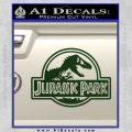 Jurassic Park Title Decal Sticker Dark Green Vinyl 120x120
