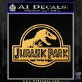 Jurassic Park Title Decal Sticker Gold Vinyl 120x120