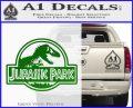 Jurassic Park Title Decal Sticker Green Vinyl Logo 120x97