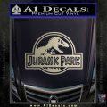 Jurassic Park Title Decal Sticker Metallic Silver Emblem 120x120