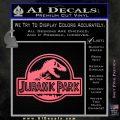 Jurassic Park Title Decal Sticker Pink Emblem 120x120