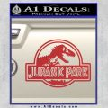 Jurassic Park Title Decal Sticker Red 120x120
