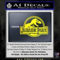 Jurassic Park Title Decal Sticker Yellow Laptop 120x120