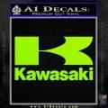 Kawasaki Full Decal Sticker Lime Green Vinyl 120x120