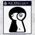 Keyhole Sexy Decal Sticker Black Vinyl 120x120