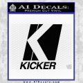 Kicker Classic Full Decal Sticker Black Vinyl 120x120