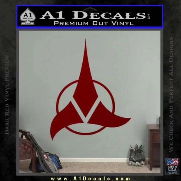 Klingon Decal Sticker Command DRD Vinyl
