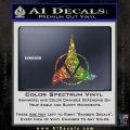 Klingon Decal Sticker Command Glitter Sparkle 120x120
