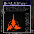Klingon Decal Sticker Command Orange Emblem 120x120