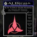 Klingon Decal Sticker Command Pink Emblem 120x120