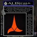 Klingon Decal Sticker Star Trek Orange Emblem 120x120