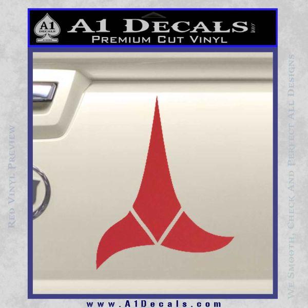Klingon Decal Sticker Star Trek Red