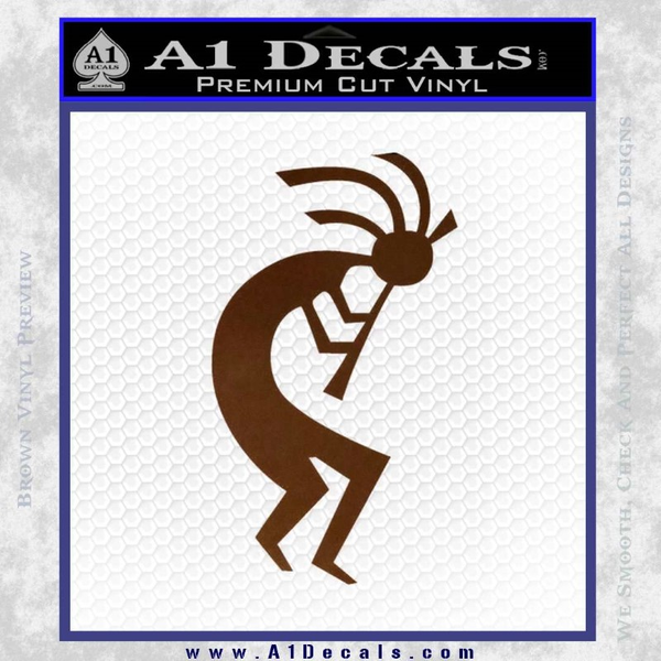 Kokopelli D1 Decal Sticker 2 Pack Brown Vinyl