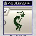 Kokopelli D1 Decal Sticker 2 Pack Dark Green Vinyl 120x120