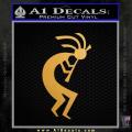 Kokopelli D1 Decal Sticker 2 Pack Gold Metallic Vinyl 120x120