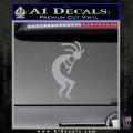 Kokopelli D1 Decal Sticker 2 Pack Grey Vinyl 120x120