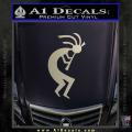 Kokopelli D1 Decal Sticker 2 Pack Metallic Silver Vinyl 120x120