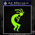 Kokopelli D1 Decal Sticker 2 Pack Neon Green Vinyl 120x120